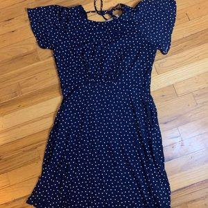Polka Dot Navy Shift Dress